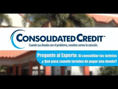 Al consolidar las tarjetas ¿Qué pasa cuando se termina de pagar una deuda?