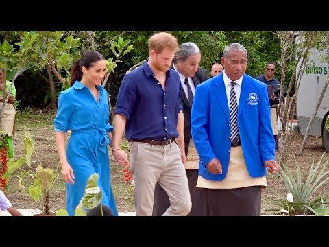 Royal Tour Tonga - Duke and Duchess of Sussex - Queen's Commonwealth Canopy Dedication