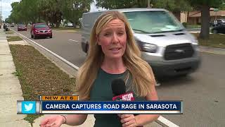 Video shows road rage incident in Sarasota, driver intentionally rams motorcyclist off road