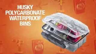 Husky Polycarbonate Waterproof Storage Boxes At Home Depot