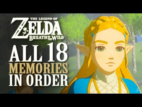 All 18 Memories In Order - Zelda Breath Of The Wild **SPOILE
