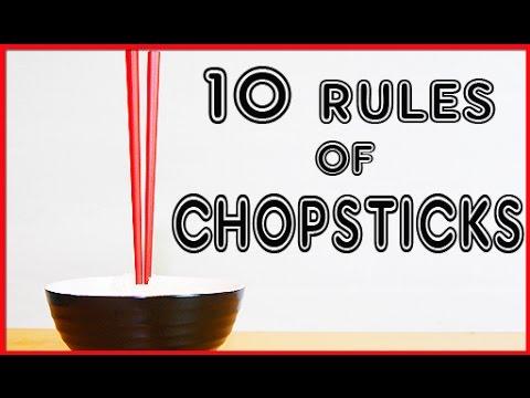 10 Rules of Chopsticks 【ダメッ】こんなお箸の使い方!