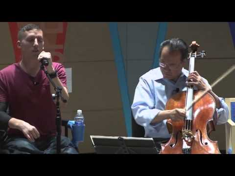 Yo-Yo Ma and MusiCorps in a special demonstration of 'Wide River to Cross'