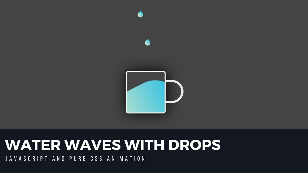 Water Drops with Random Water Waves JavaScript/CSS3