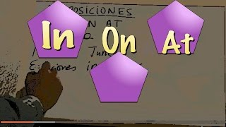 INGLÉS. Preposiciones. IN, ON, AT. Inglés para hablantes de español. Tutorial
