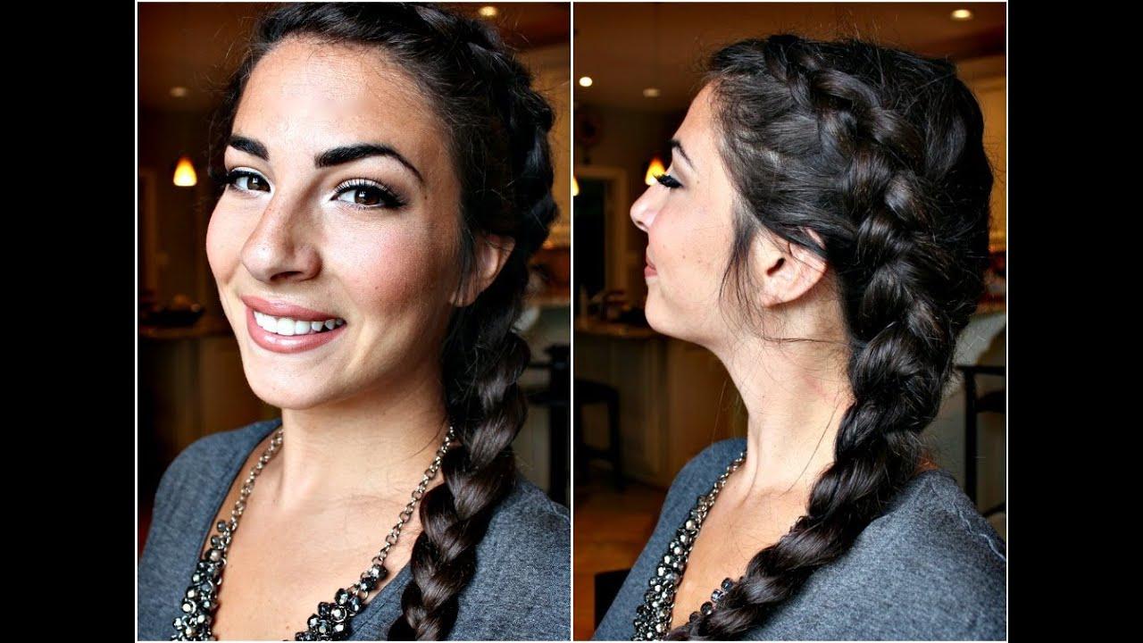 Hairstyles With Dutch Braids: How To: Dutch Side Braid