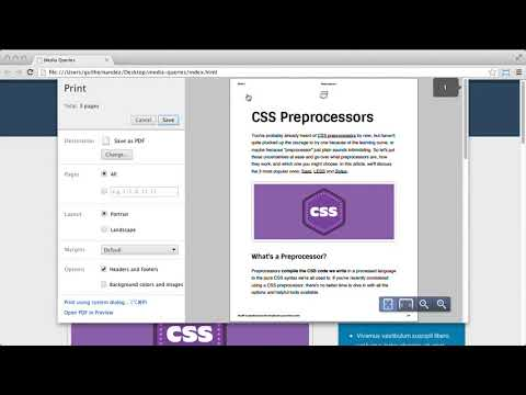CSS Foundations : Print Style Sheets