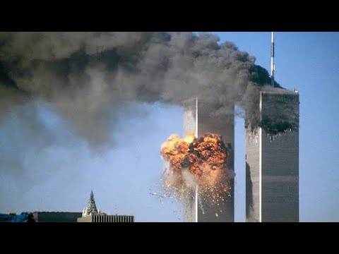 2nd Plane Hitting WTC - LIVE News Coverage - 9/11
