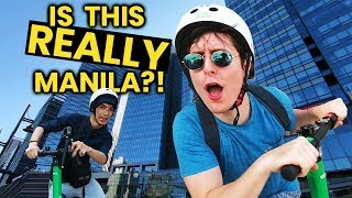 Is This Really Manila?! EPIC BGC Scooter Adventure in the Philippines!!