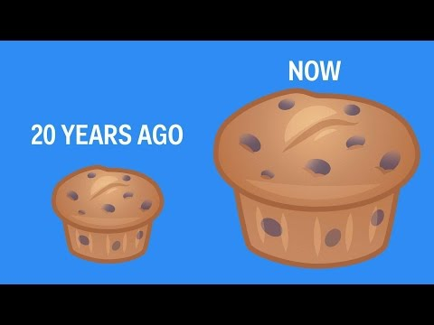 How drastically food portions have changed in the past 20 years