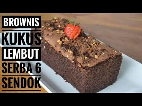Brownies Kukus - Resep Brownies Kukus Lembut Serba 6 Sendok Tanpa Mixer Dan Oven    Resep Ke 3