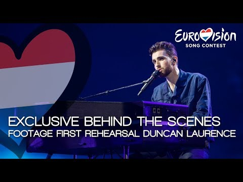 Exclusive behind the scenes at the first Eurovision rehearsal with Duncan Laurence | TeamDuncan
