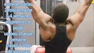 Programme de musculation prise de masse