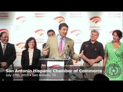 Gov. Perry: San Antonio Hispanic Chamber of Commerce Helps Promote, Power South Texas Economy