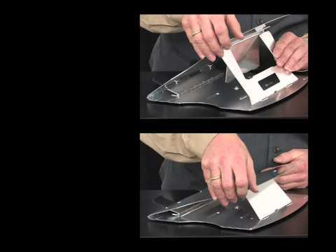 General Office Notebook-Ständer aus Aluminium, mit Drehteller