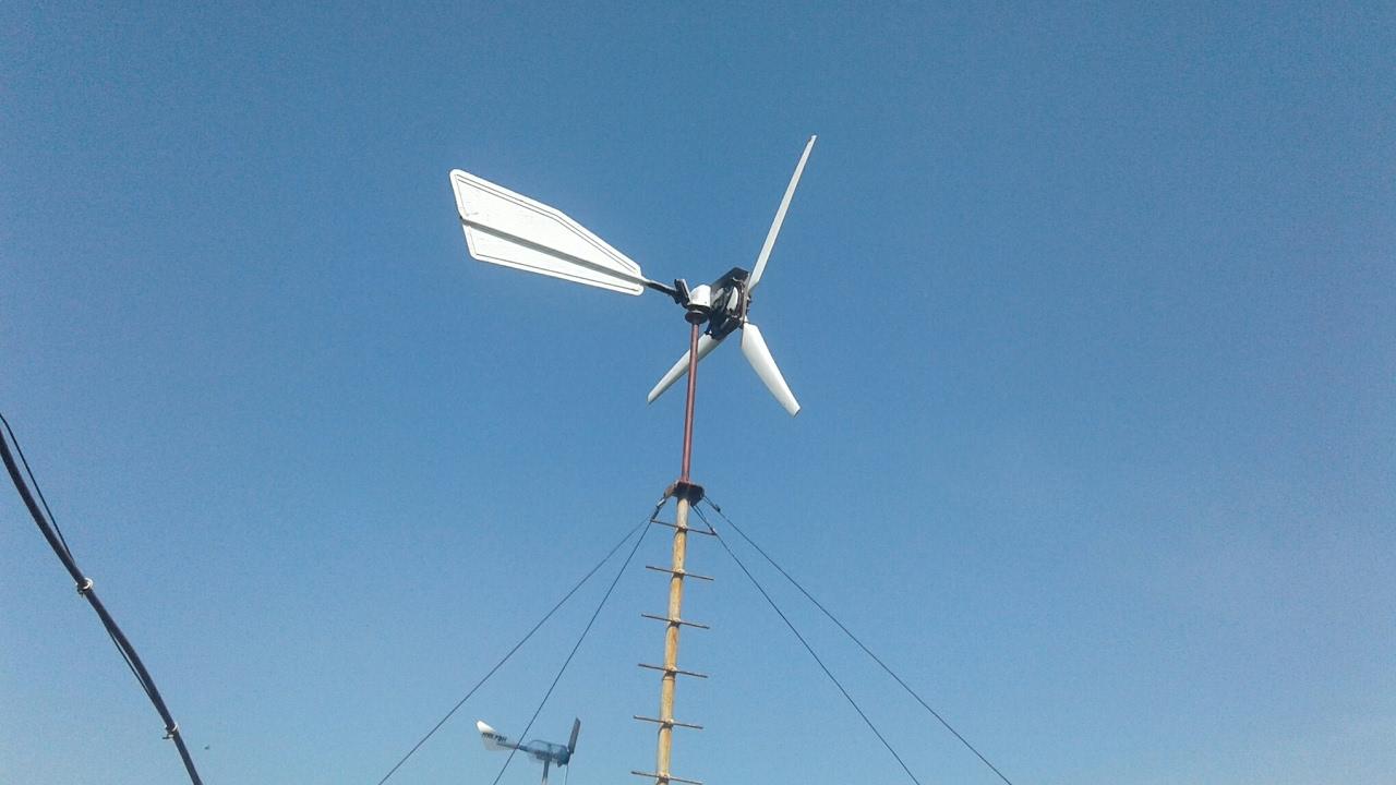 Сколько же выдает мой ветряк при ветре 3 - 4 метра в секунду , и немного о будущей мачте
