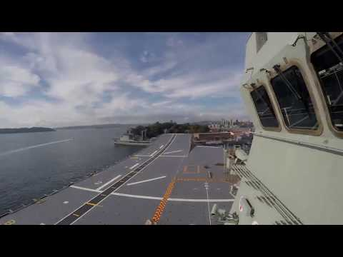 LHD Adelaide, post-azipod issue undocking