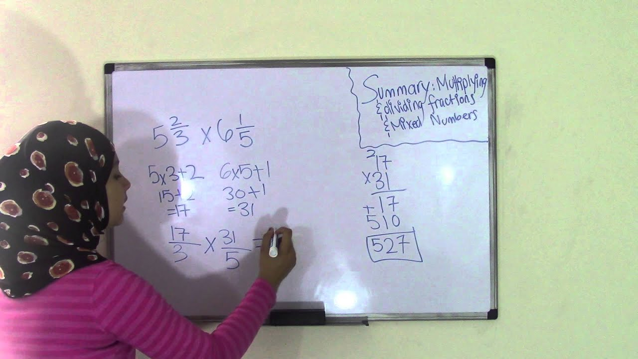 5th Grade Math  Multiplying And Dividing Fractions And Mixed Numbers