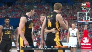 Tom Garleep pushes Greg Hire, Hire retaliates