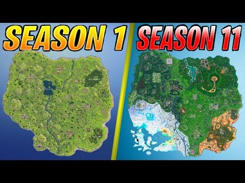 Evolution Of The Fortnite Map (Season 1 - Season 11)
