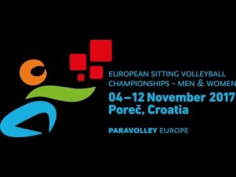 European sitting volleyball championship Men Porec 2017, Germany vs Turkey, 6.11.2017.