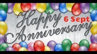 Happy Anniversary 6 SEPT  Wedding Anniversary Wishes/Greetings/Quotes/SMS For Couple/Whatsapp Status