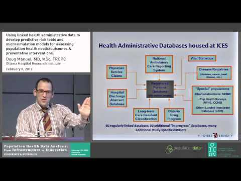 Using linked health administrative data to develop predictiv