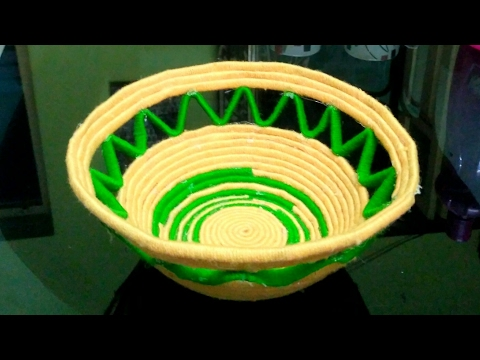 How to make a woollen fruit bowl (also using newspaper)