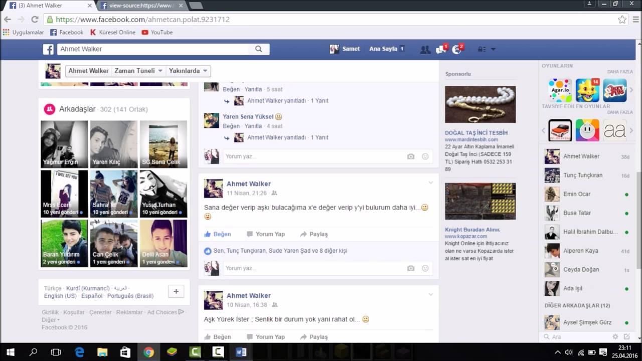 facebookta profilimi takip edenler