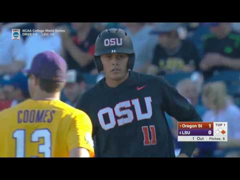 2017 NCAA CWS Baseball Oregon State vs. LSU