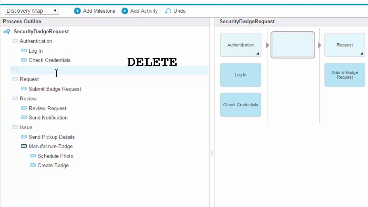 How to add activities and milestones to your discovery map on ibm how to add activities and milestones to your discovery map on ibm blueworks live baditri Images