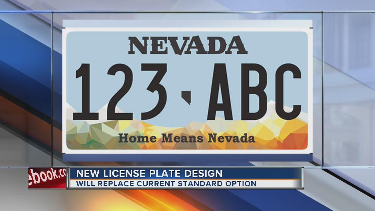 Nevada DMV releases new license plate design - YouTube