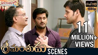 Mahesh Babu Helps His Employee  Srimanthudu Movie Scenes  Jagapathi Babu  Koratala Siva  Dsp