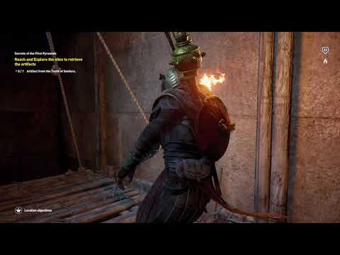 Assassin's Creed Origins Get to Artifact Ancient Tablet Tomb of Sneferu