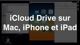icloud drive sur mac iphone et ipad