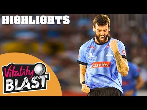 Sussex v Hampshire | Topley Takes 3 In 4 Balls! | Vitality Blast 2019 - Highlights