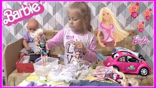 Видео с куклами Барби, МИЛАНА ИГРАЕТ Куклы Пупсики в дочки матери игрушки для девочек