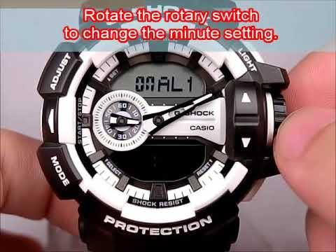 CASIO GA-400 Operation Video - Alarm Setting