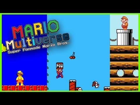 ¡La historia de Mario Bros en Mario Maker! | Super FanMade Mario Bros/Mario  Multiverse
