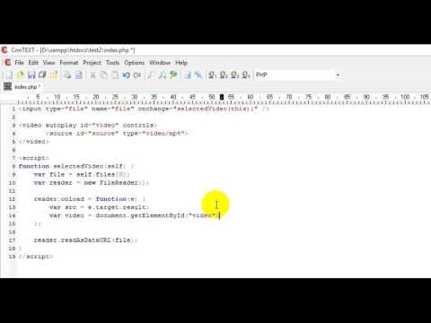 Display User Uploaded Video - HTML & Javascript