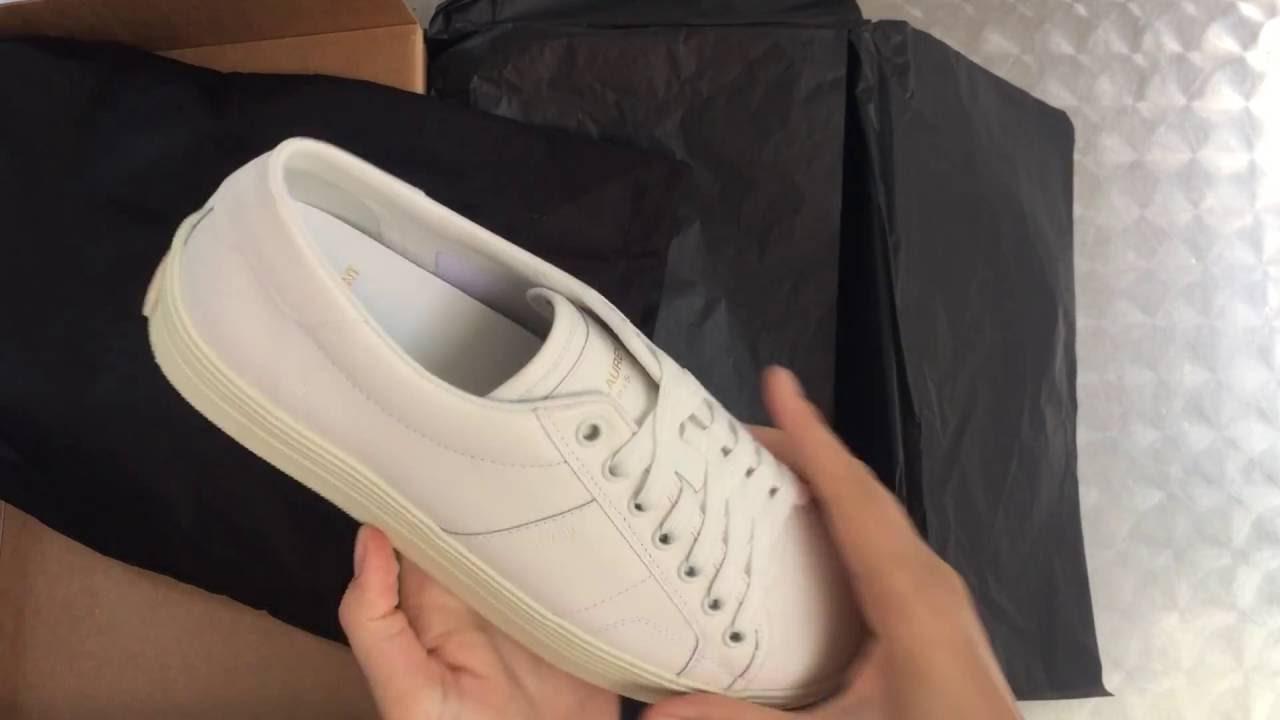 64b756e23cf9 Saint Laurent platform sneaker unboxing - YouTube