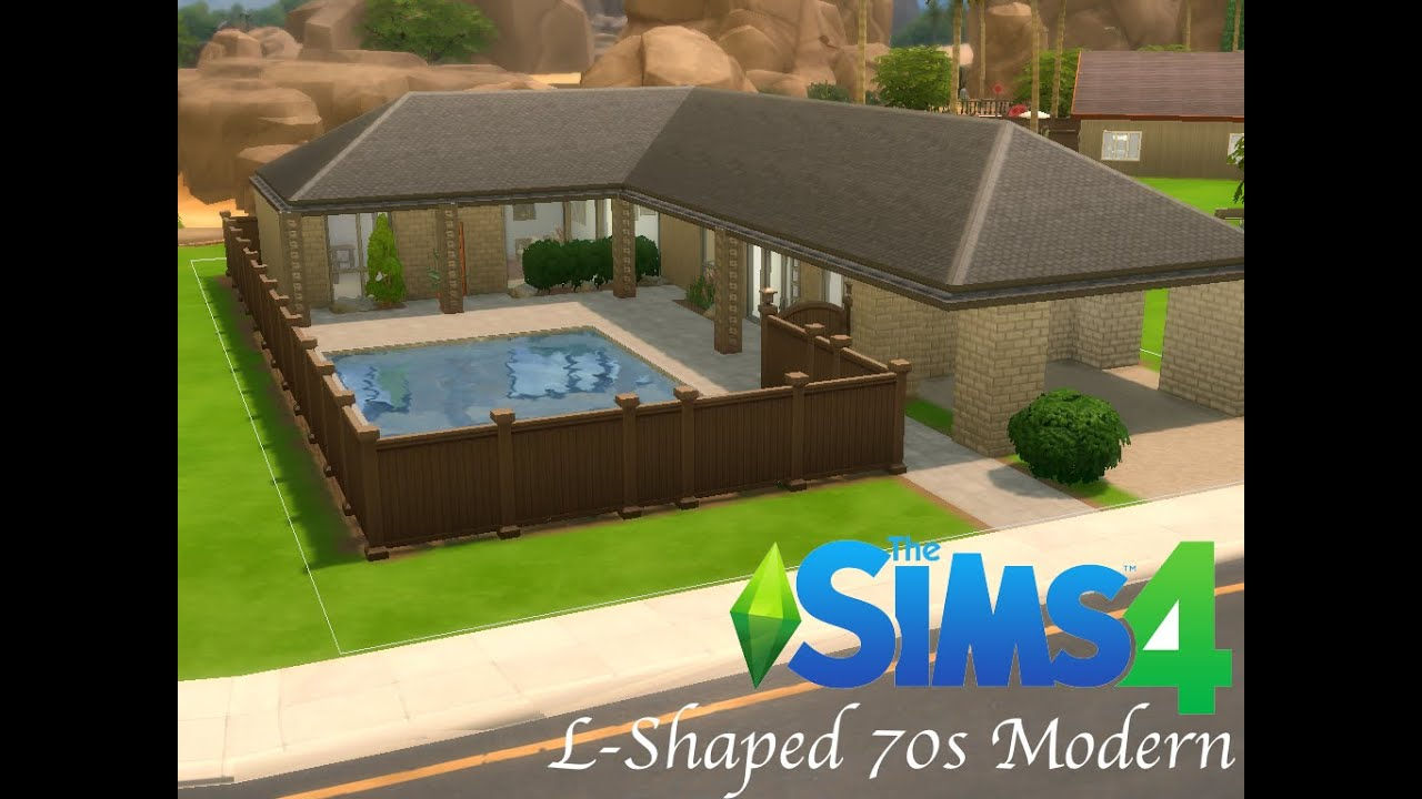 L Shaped 70s Modern The Sims 4 Building Youtube