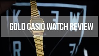 Gold Casio watch A168WG-9EF UNBOXING || REVIEW!