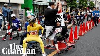 Office chair racing is big in Japan - could you keep up?