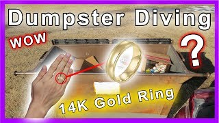 Found 14k gold wedding ring Dumpster Diving #216