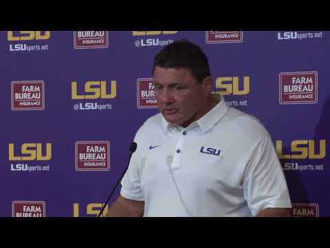LSU HC Ed Orgeron after LSU's historic 24-21 loss to Troy | FULL PRESSER