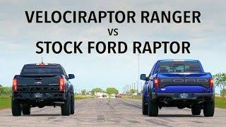 2019 Hennessey VelociRaptor Ranger vs 2019 Ford Raptor Drag Race