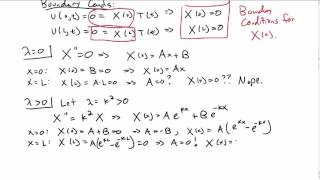 Separation of Variables - Heat Equation Part 1