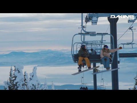 Dakine Snowboard Teamrider Ozzy Henning & Jason Robinson Shredding Whitefish, Montana