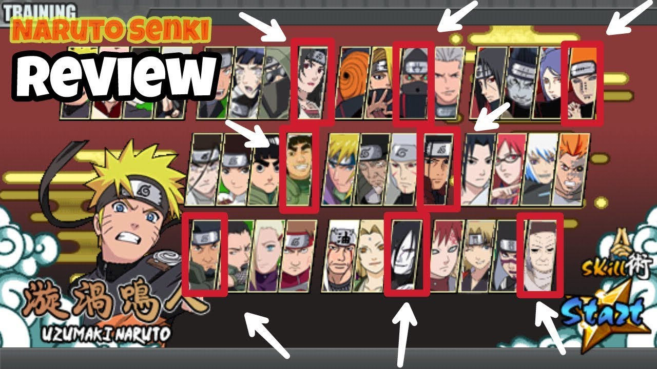 download naruto senki mod character